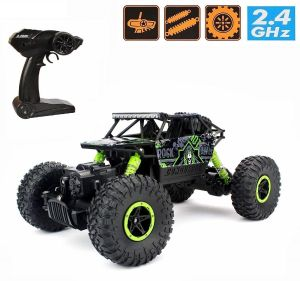 Cars - Waterproof Remote Controlled Rock Crawler RC Monster Truck, 4 Wheel Drive