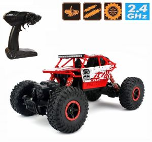 Remote Control Toys - Waterproof Remote Controlled Rock Crawler RC Monster Truck, 4 Wheel Drive