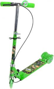 Kids 3 Wheel Foldable Scooter - Green