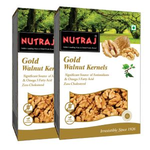 Nutraj Gold Light Halve Walnut Kernels 250 G (pack Of 2)