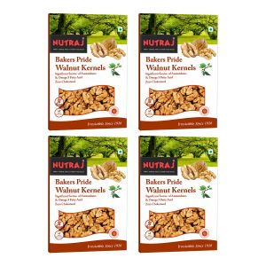 Nutraj Light Broken Baker Pride Walnuts Kernels (akhrot) Giri ( Pack Of 4) 250 Gm Each