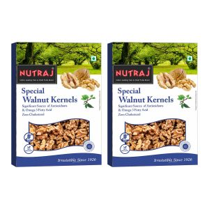Nutraj Special Extra Light Halve Quarter Walnut Kernels 250 G (pack Of 2)