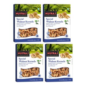 Nutraj Special Extra Light Halve Quarter Walnut Kernels 250 G (pack Of 4)