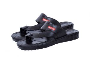 Kaystar Fashionable Black Slippers/sandals For Men (code - K-m4)