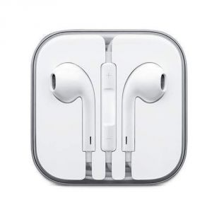 Earphones - Stark iPhone Original Earphone Compatible With iPhone 4/4s/5/5s/6/6s iPad with 3.5mm Jack White