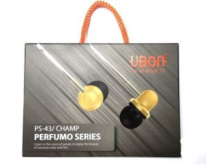Ubon Ps-43/champ Perfume Series Universal Audio Bass In Ear Earphone/headphone With Mic