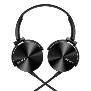 Jvc,Amzer,Sony,Fly,Jbl Mobile Accessories - Sony Mdr-xb450 Extra Bass Black Headphone