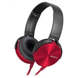 Panasonic,Quantum,Vox,Fly,Sony Mobile Accessories - Sony Mdr-xb450 Extra Bass Red Headphone