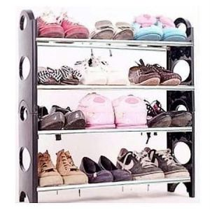12 Pair Stackable Shoe Rack Storage 4 Layer