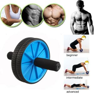 Ab Exercise Roller Excerciser With Mat (soft Cushioned Handle, Knee Mat) - Multicolor