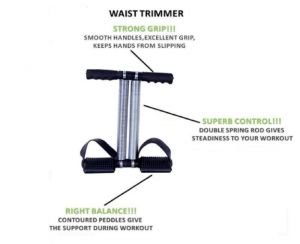 Tummy Trimmer Double Spring Ab Exercise Burn Off Calories & Tone Your Muscles Ab Exerciser