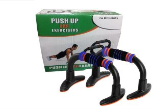 Push Up Bar, Dips Stand, T Shaped Moulded Any Rust Foam Gripped, Perfect For Home Gym - 1 Pair (orange)