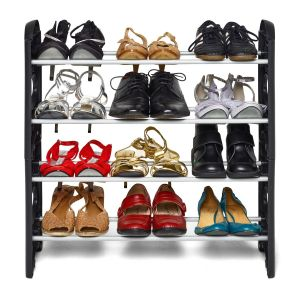Shoe Rack 4 Layer Shelf | Hold Upto 12 Pairs Of Shoes Cabinet Storage