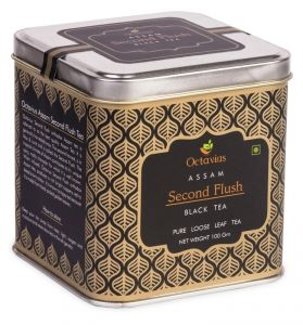 Octavius Assam Premium Second Flush Loose Leaf Black Tea In Tin Box