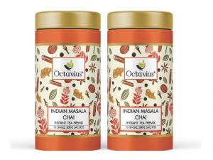 Octavius Indian Masala Chai, Instant Tea Premix 10 Sachet(pack Of 2)