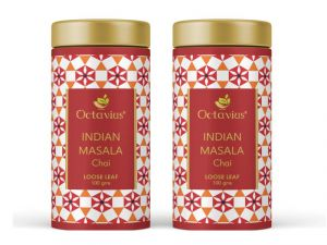 Octavius Indian Masala Loose Leaf Black Tea Tin Can-100 Gms(pack Of 2)