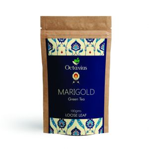 Green Tea - Marigold & Lemon Grass Green Tea - Blend of Green Tea, Marigold & Lemon Grass | Low Caffeine, High Anti-Oxidants-100 Gms