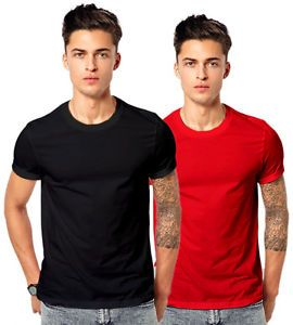 Mens Cotton Round Neck Plane T Shirt Combo