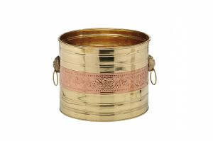 Buyerwell Copper Brass Decorative Planter 13 Inch