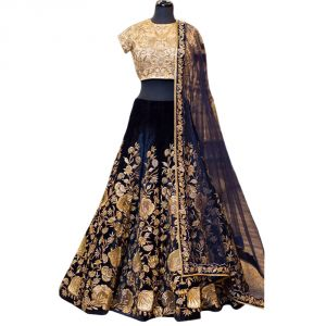 Chaniya, Ghagra Cholis - Bhumik Enterprise   Women's Heavy Brocat Semi Stitch Lehenga Choli   (Code - BE110106)