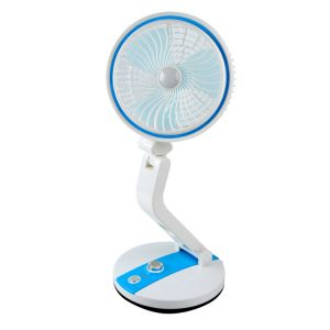 Rechargeable Folding Fan With LED Light by MNR Brands