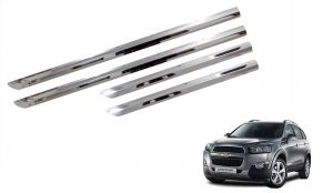 Side beading for cars - Trigcars Chevrolet Captiva Car Steel Chrome Side Bedaing