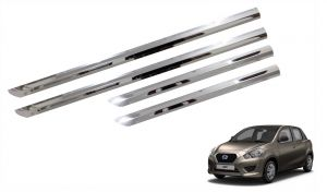 Side beading for cars - Trigcars Datsun Go Car Steel Chrome Side Beading
