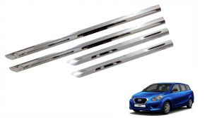 Trigcars Datsun Go Plus Car Steel Chrome Side Beading