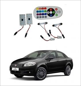 Trigcars Fiat Linea 2 X 16 Colors Rgb Bright 5050 LED Car Roof Dome Light Festoon T10 IR Remote