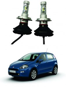Headlights and bulbs - Trigcars Fiat Punto Car Glass Led Head Light