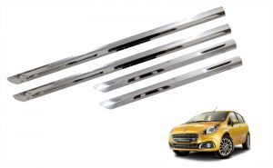 Side beading for cars - Trigcars Fiat Punto Evo Car Steel Chrome Side Beading