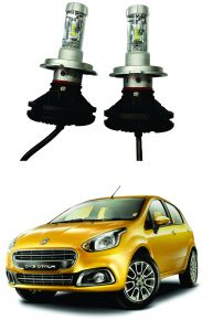 Trigcars Fiat Punto Evo Car Glass LED Head Light