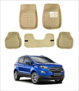 Trigcars Car Carpet Cream Car Floor/foot Mats For Ford Ecosport