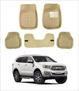 Trigcars Car Carpet Cream Car Floor/foot Mats For Ford Endeavour