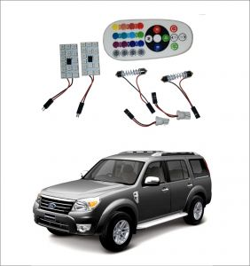 Trigcars Ford Endeavour Old 2 X 16 Colors Rgb Bright 5050 LED Car Roof Dome Light Festoon T10 IR Remote