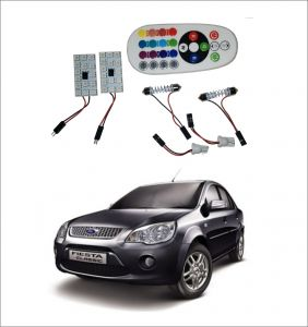 Trigcars Ford Fiesta Old 2 X 16 Colors Rgb Bright 5050 LED Car Roof Dome Light Festoon T10 IR Remote