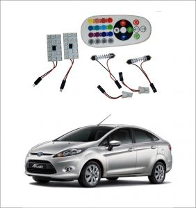 Trigcars Ford Fiesta 2 X 16 Colors Rgb Bright 5050 LED Car Roof Dome Light Festoon T10 IR Remote