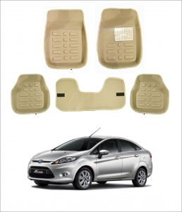 Trigcars Car Carpet Cream Car Floor/foot Mats For Ford Fiesta