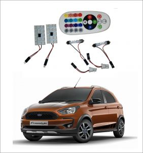 Trigcars Ford Freestyle 2 X 16 Colors Rgb Bright 5050 LED Car Roof Dome Light Festoon T10 IR Remote