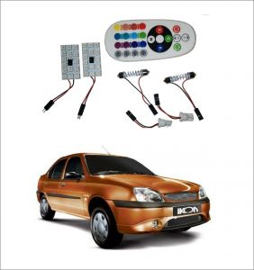 Trigcars Ford Ikon 2 X 16 Colors Rgb Bright 5050 LED Car Roof Dome Light Festoon T10 IR Remote