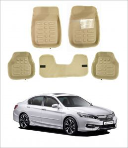 Trigcars Car Carpet Cream Car Floor/foot Mats For Honda Accord