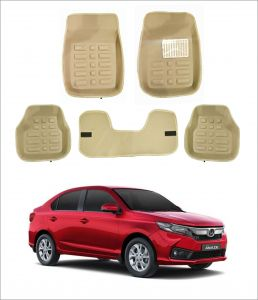 Trigcars Car Carpet Cream Car Floor/foot Mats For Honda Amaze 18