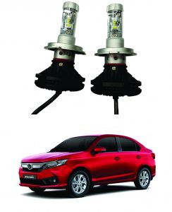 Headlights and bulbs - Trigcars Honda Amaze Car Glass Led Head Light