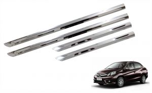 Side beading for cars - Trigcars Honda Amaze Car Steel Chrome Side Beading