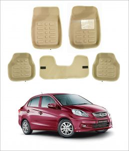 Trigcars Car Carpet Cream Car Floor/foot Mats For Honda Amaze Old