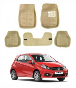 Trigcars Car Carpet Cream Car Floor/foot Mats For Honda Brio