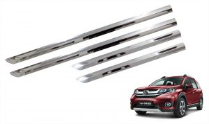 Trigcars Honda Br-v Car Steel Chrome Side Beading