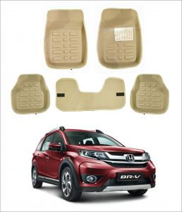 Trigcars Car Carpet Cream Car Floor/foot Mats For Honda Brv