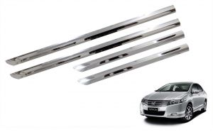 Side beading for cars - Trigcars Honda City Car Steel Chrome Side Beading