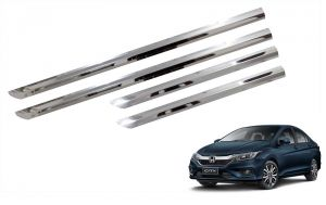 Side beading for cars - Trigcars Honda City New Car Steel Chrome Side Beading
